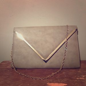 Aldo Faux Leather Envelope Clutch